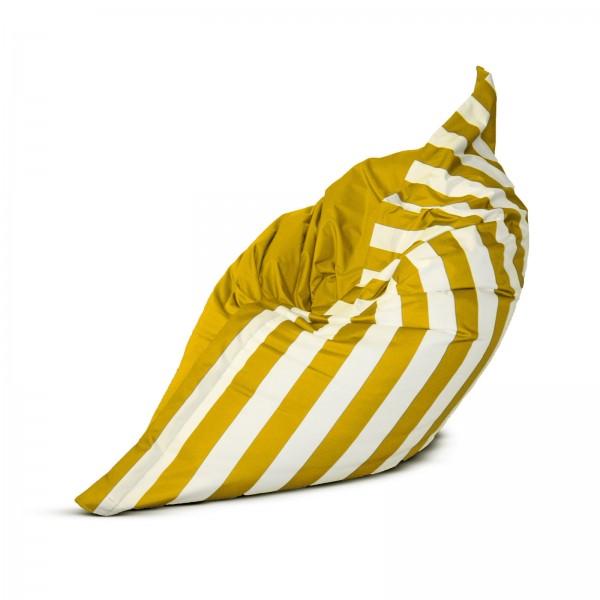 Sitzsack XXL Stripe in Gelb Weiss